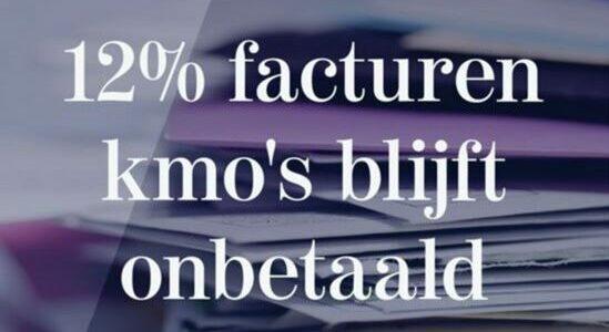 12 % facturen kmo's blijft onbetaald